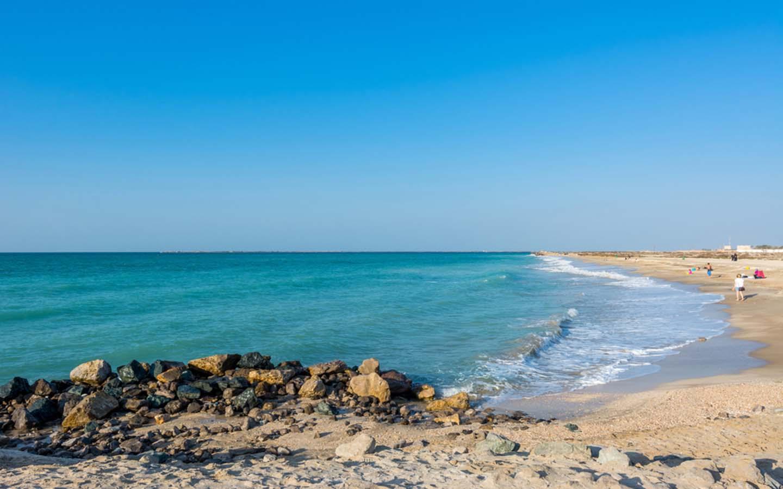 public beach in Ras Al Khaimah
