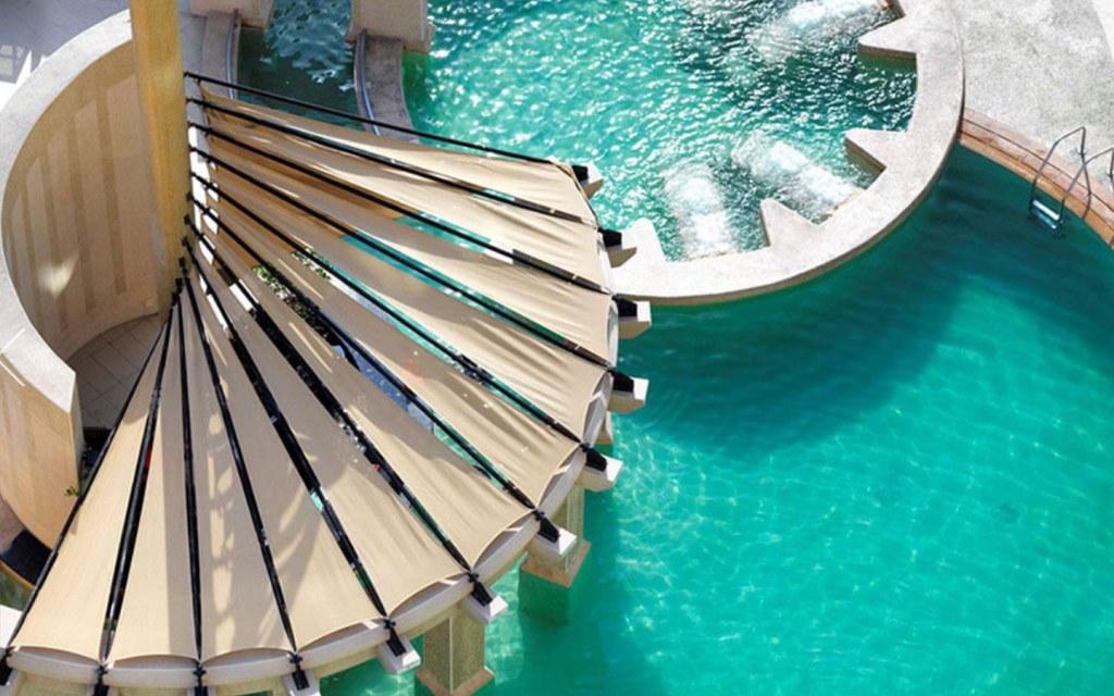 Raffles Dubai swimming pool access