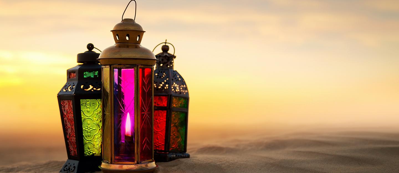 lanterns in a desert