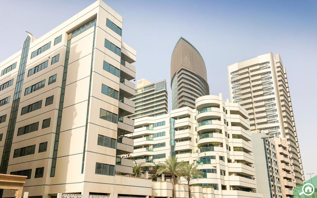 residential buildings near Burjuman metro