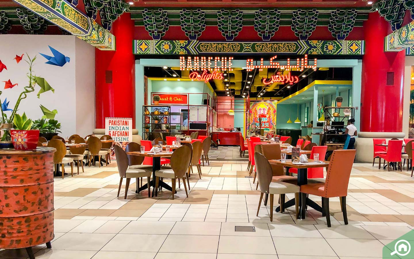 View of Barbecue Delights, one of the Ibn Battuta Mall restaurants