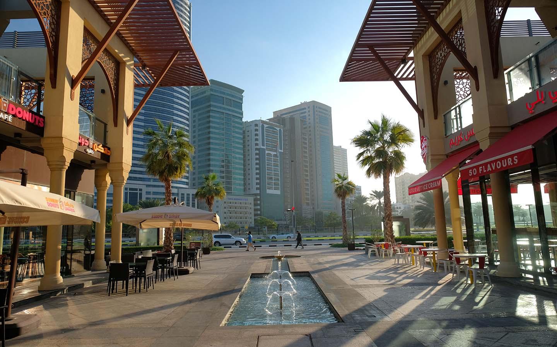 Outdoor seating arrangement of restaurant in Al Majaz