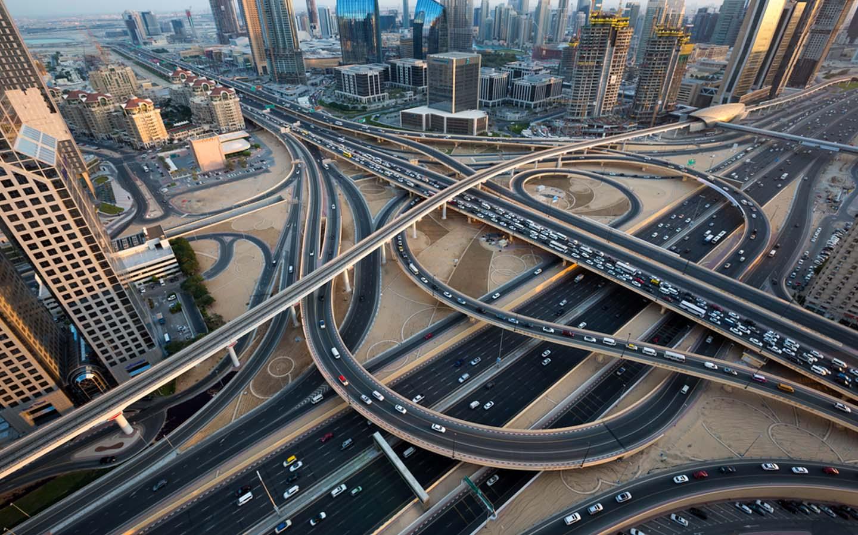 roads in Dubai