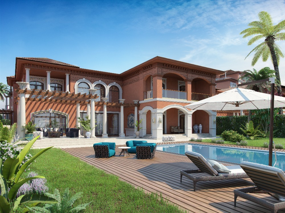 Waterfront Sapphire Villa for sale on Palm Jumeirah via Bayut.com