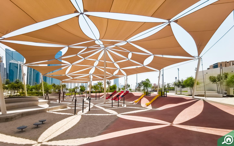 shaded playground al reem central park