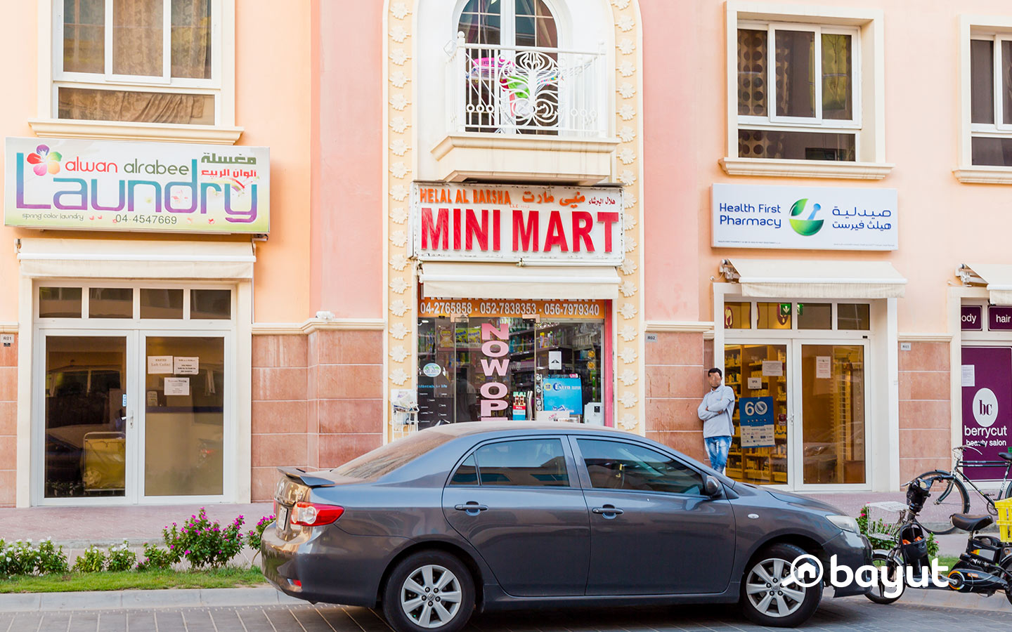 There are shopping outlets to cater to the community in JVC