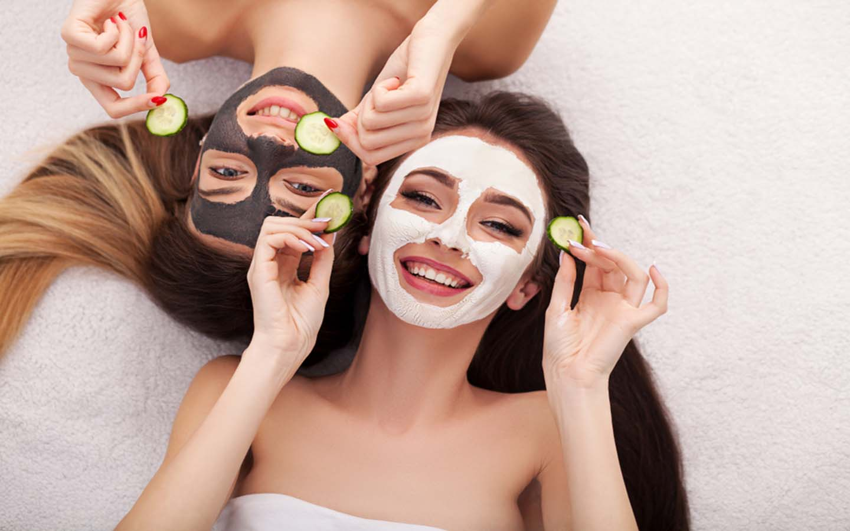 girls wearing beauty mask