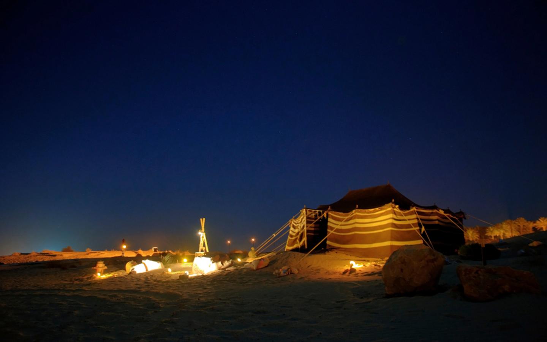 Overnight camping in Wadi Lasal