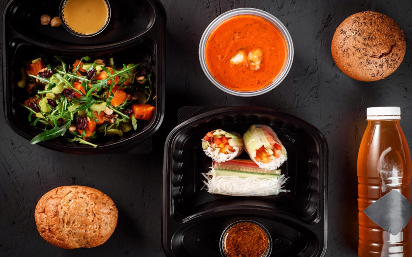 Juices, meal boxes and soup