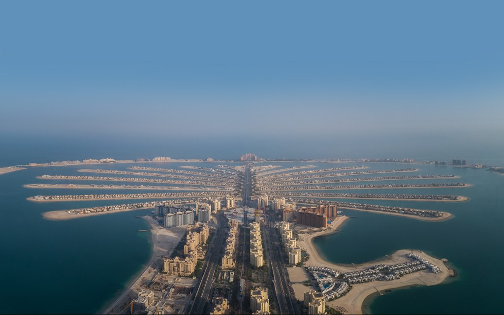 The Palm Jumeirah islands - one of Dubai's most exclusive districts.