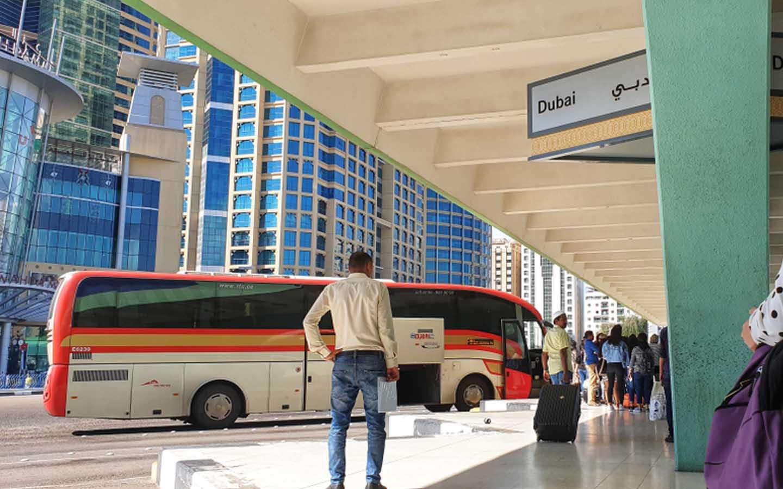 Dubai to Ras Al Khaimah bus from Bus stand in Dubai