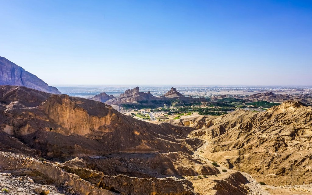 Jebel Hafeet is the third highest peak in the uae