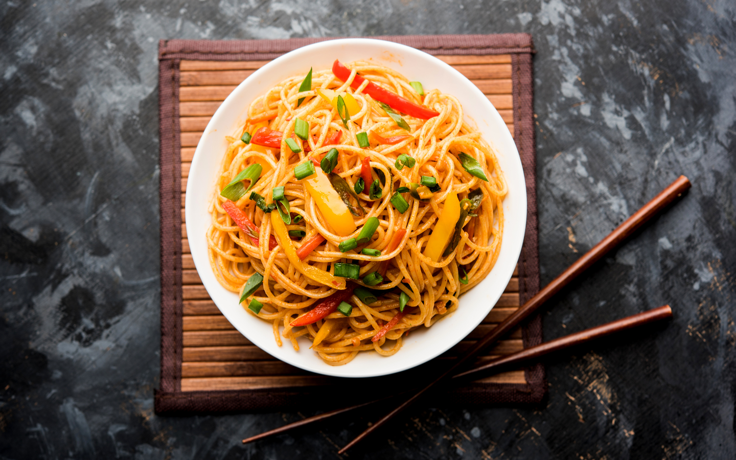 Sumptuous Hakka Noodles is a spicy Indo-Chinese fare, made popular by the Memory Lane, Dubai