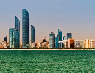 Properties along Abu Dhabi beach