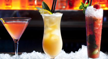 Cocktails served at the top bars in Al Barsha