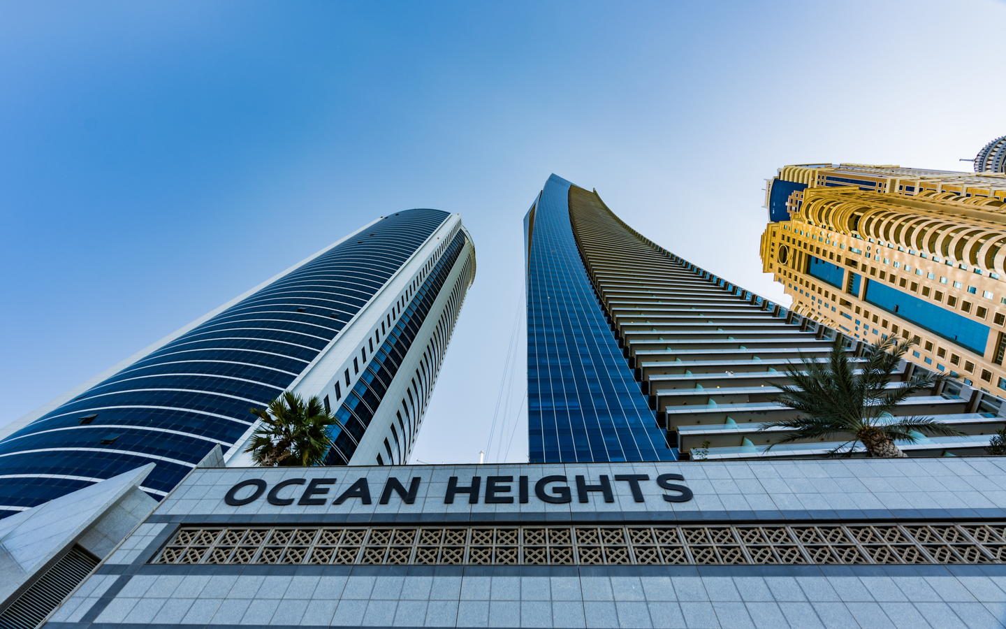 Designed by Aedas, Ocean Heights is one of the tallest residential buildings in Dubai.