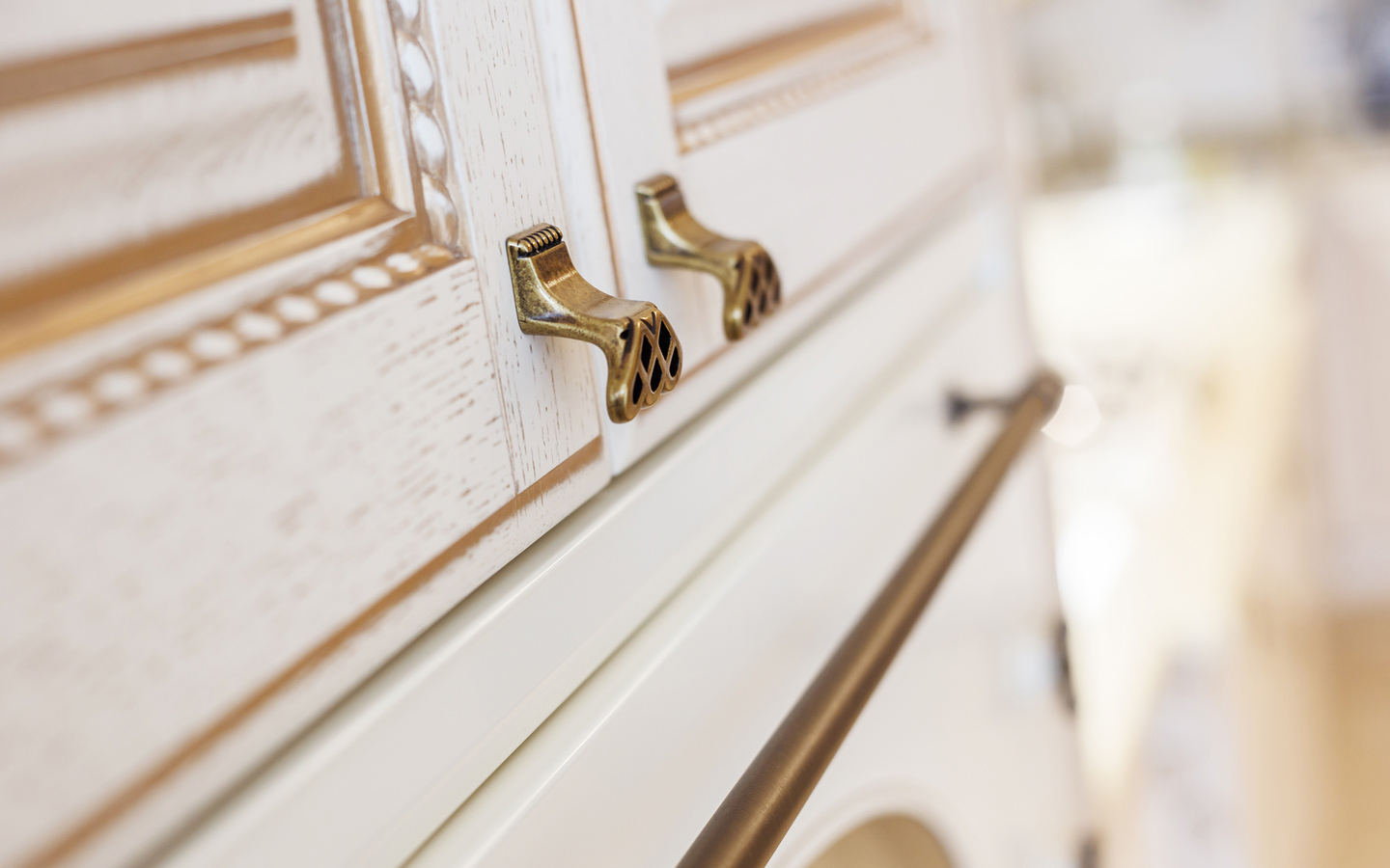 upgrading a kitchen with gold knobs