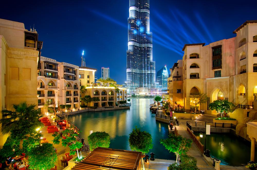 Views of the Burj Khalifa from Souk Al Bahar