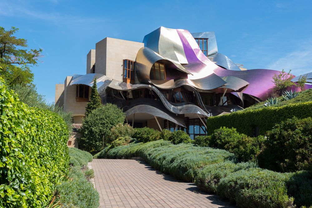 The architect, Frank Gehry, was also behind modern hotel of Marques de Riscal in Elciego, Basque Country, Spain
