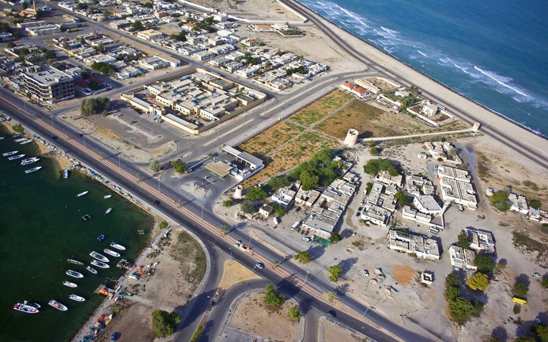 Aerial view of Umm Al Quwain