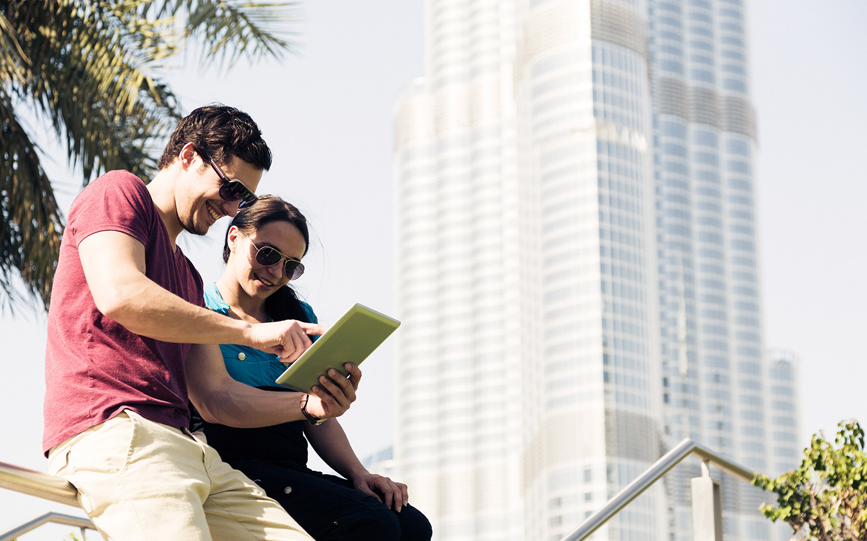 by the burj khalifa
