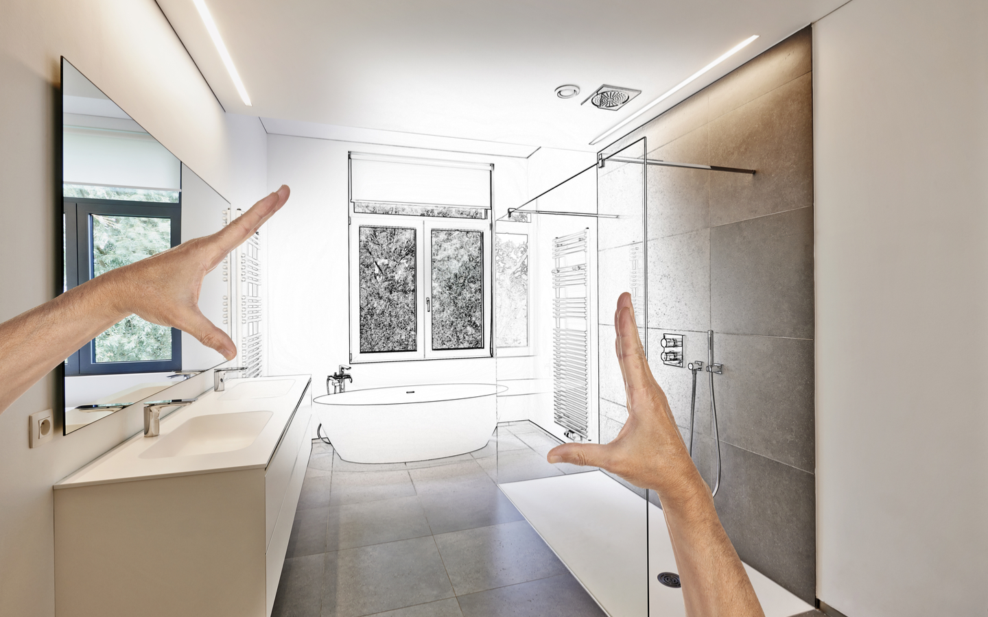 Renovating a bathroom is one of the key steps you can take to renovate your house on a budget.