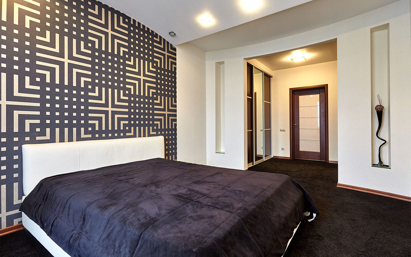 geometric wallpaper pattern for an accent wall