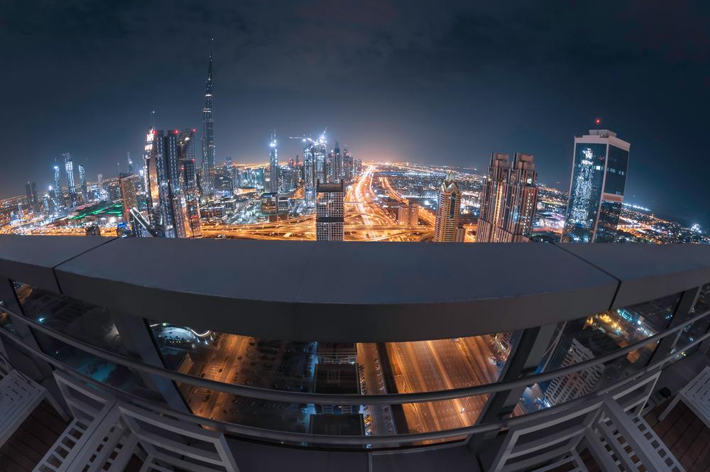 views from balcony in Downtown Dubai