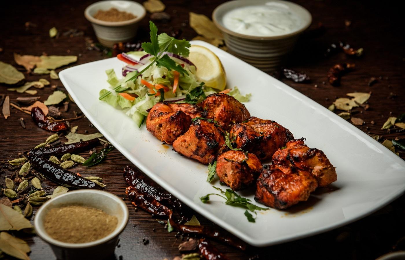 Pakistani style Chicken boti plate