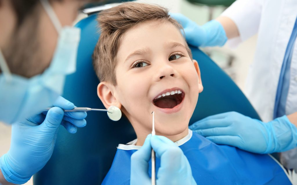 a child receiving dental care