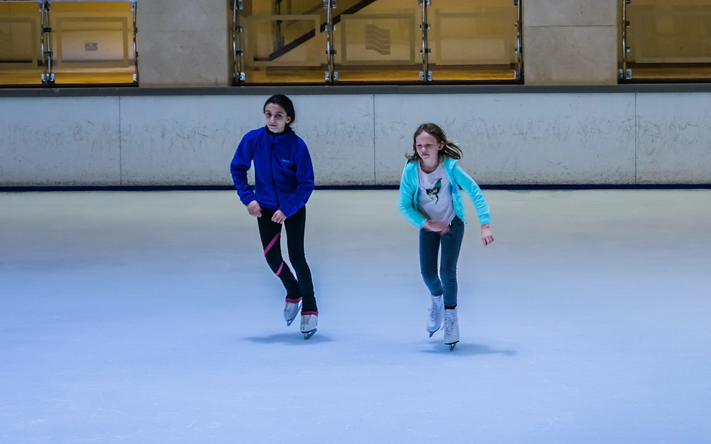 Ice skating is a great option for indoor activties in Dubai for the summer