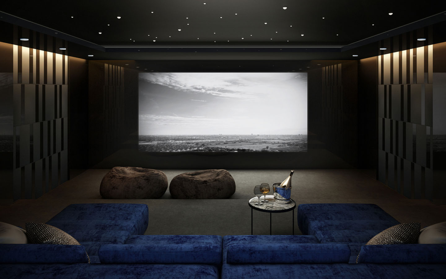 Home theatre room ideas for basement