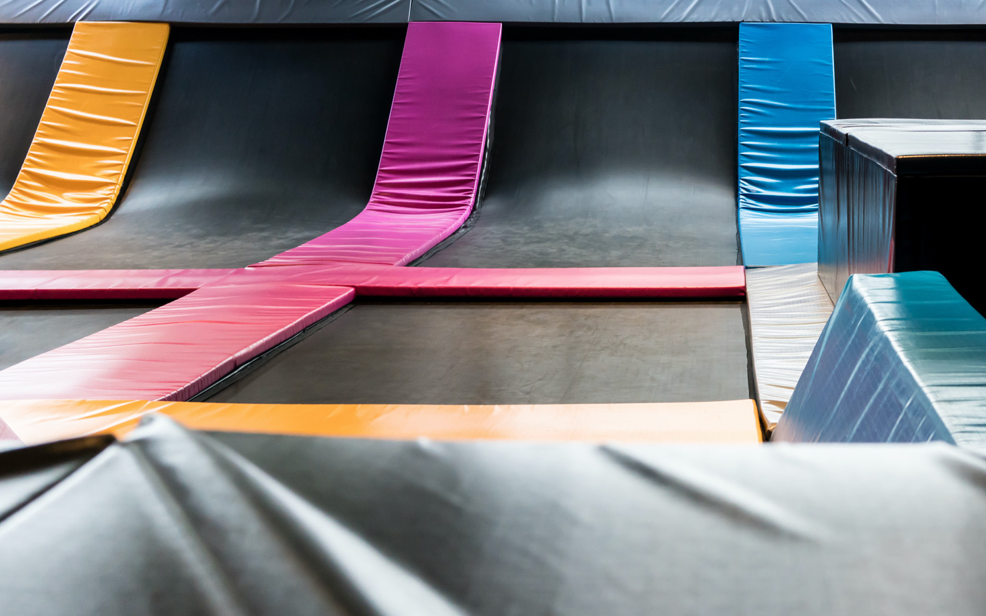 Bounce offers exciting indoor activities in Dubai in a trampoline covered space