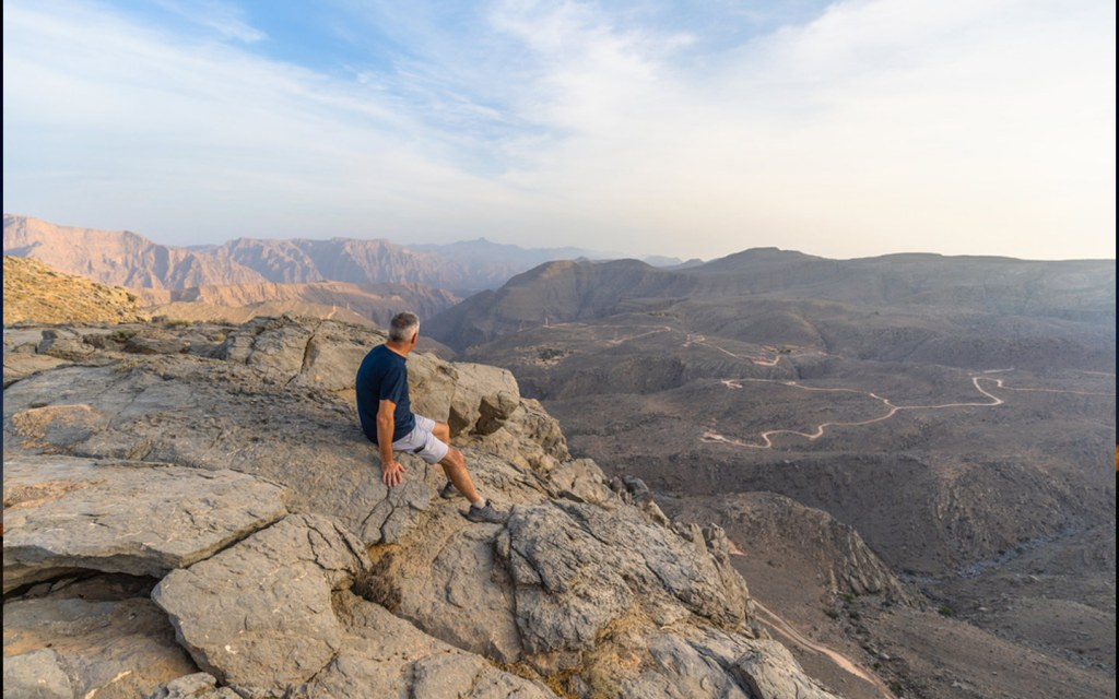 Jebel Qada'ah is one of the most prominent hiking spot in the uae
