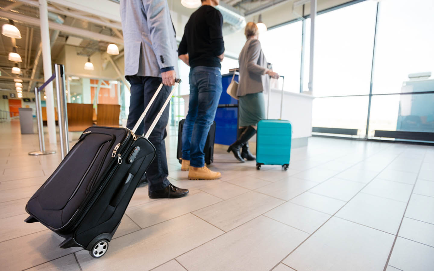travelers with luggage