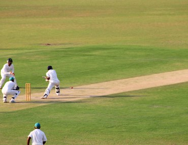 View of on-going cricket match in Sharjah Cricket Stadium