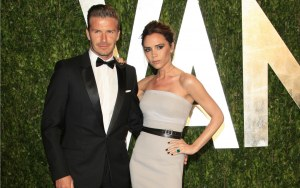 Famous footballler David Beckham with his beautiful beautiful wife