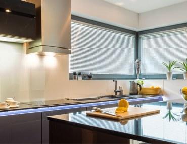 sleek kitchen interior