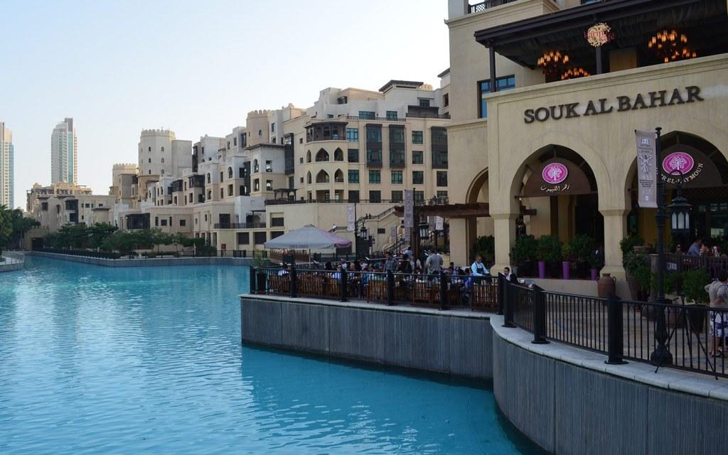 Enjoy waterfront dining at Souk Al Bahar