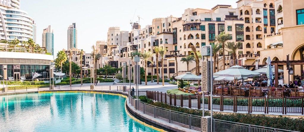 Beautiful view of Souk Al Bahar