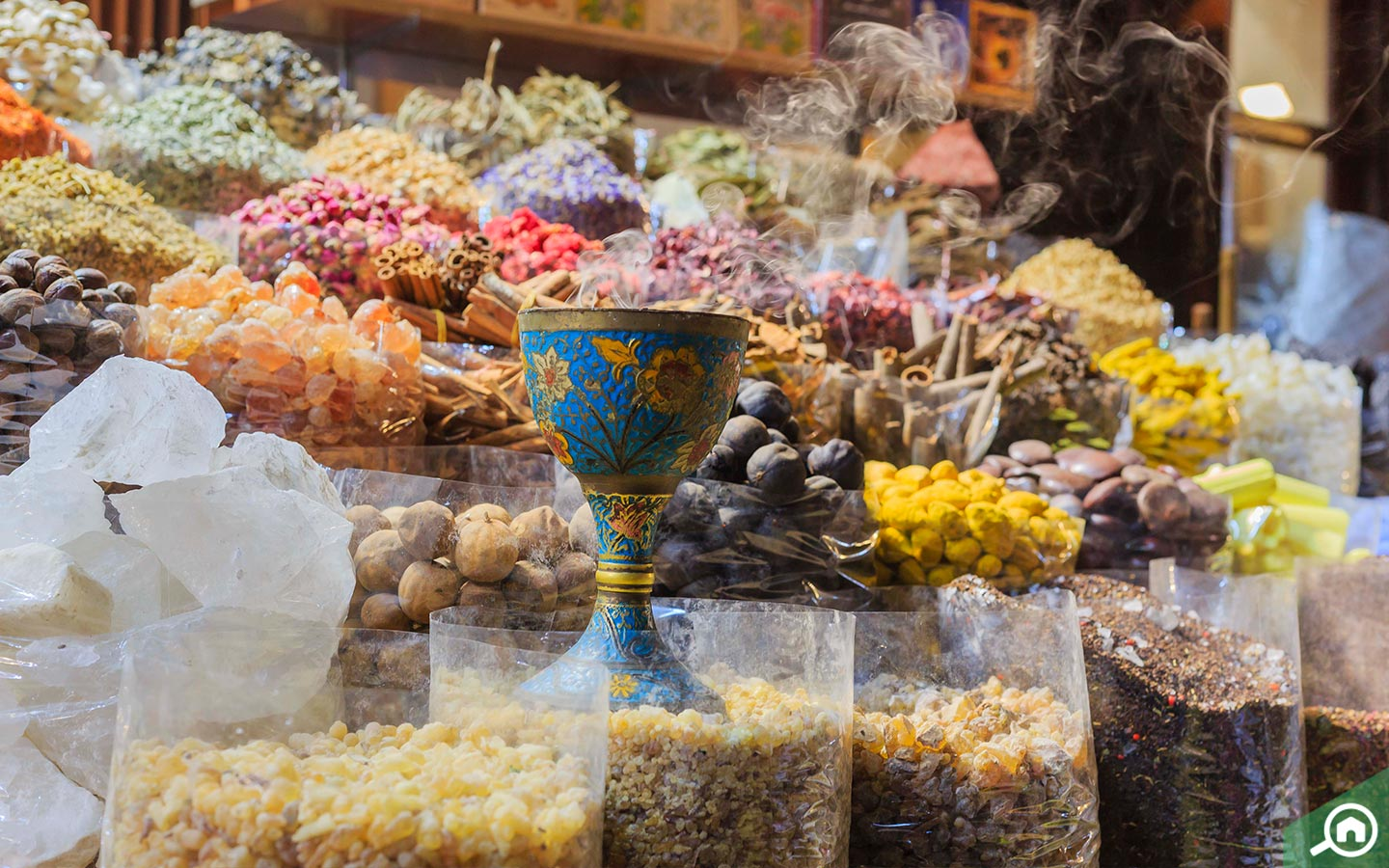 spices and incense at spice souk in dubai