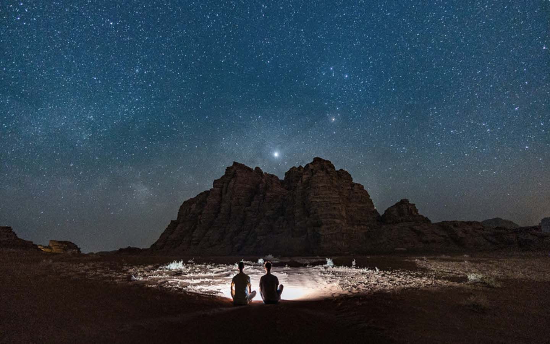 stargazing in desert