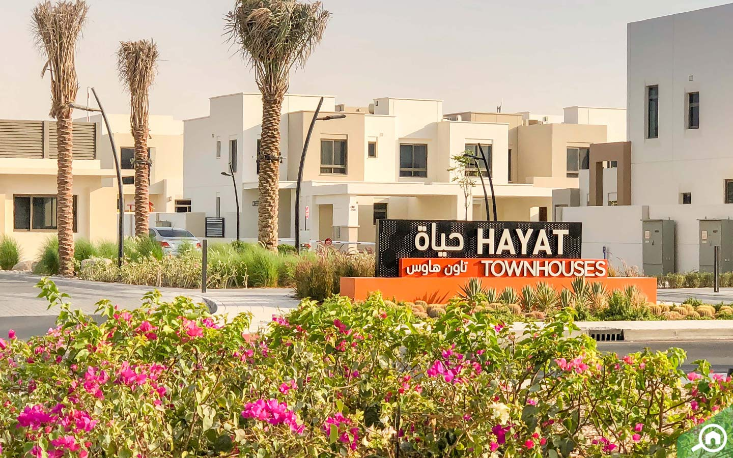 View of entrance to Nshama Town Square Hayat Townhouses