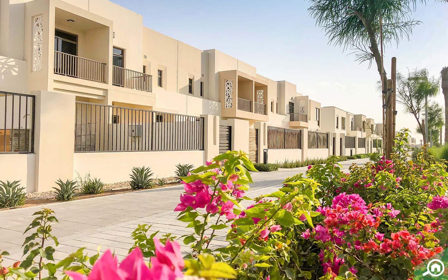 View of the Nshama Safi Townhouses for sale with landscaping