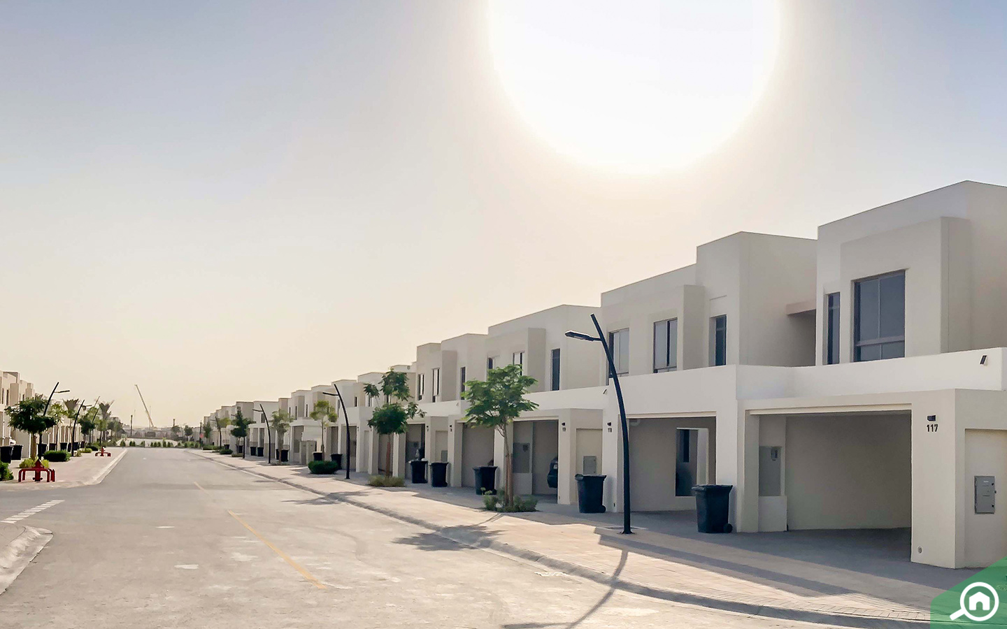 View of the townhouses for sale in Dubai