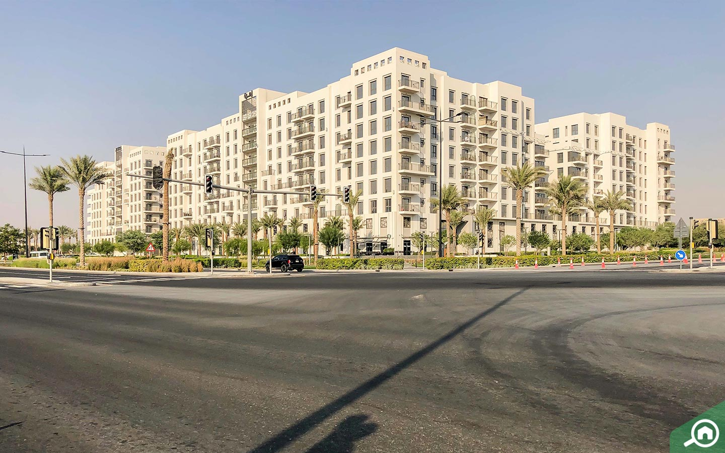 View of Zahra Apartments location, which has apartments for sale in Town Square Dubai
