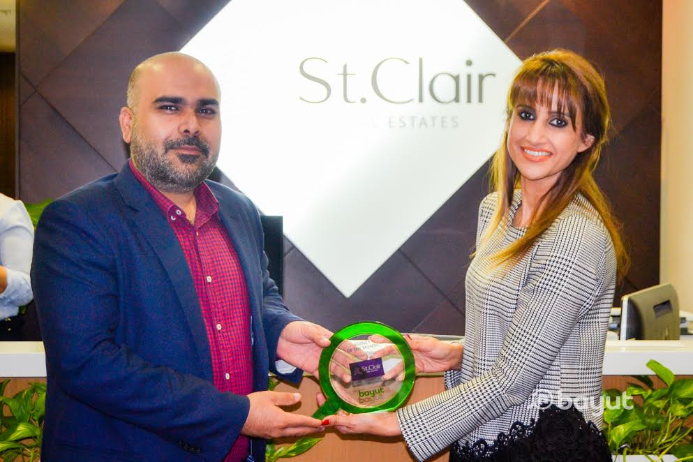 CEO of St. Clair Fahad Mirza accepts Bayut's Agency of the Month Award