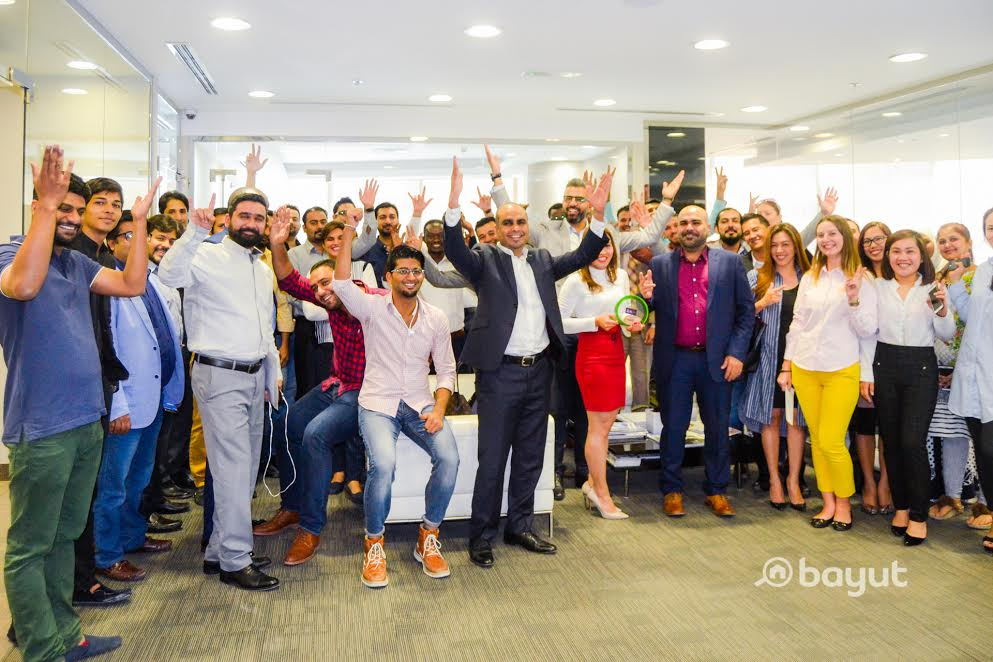 St. Clair Team Celebrates winning Bayut's Agency of the Month Award