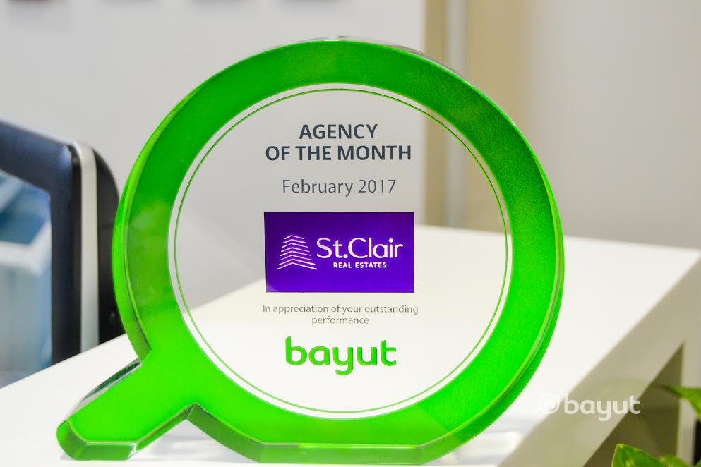 St. Clair Wins Bayut's Agency of the Month for February 2017