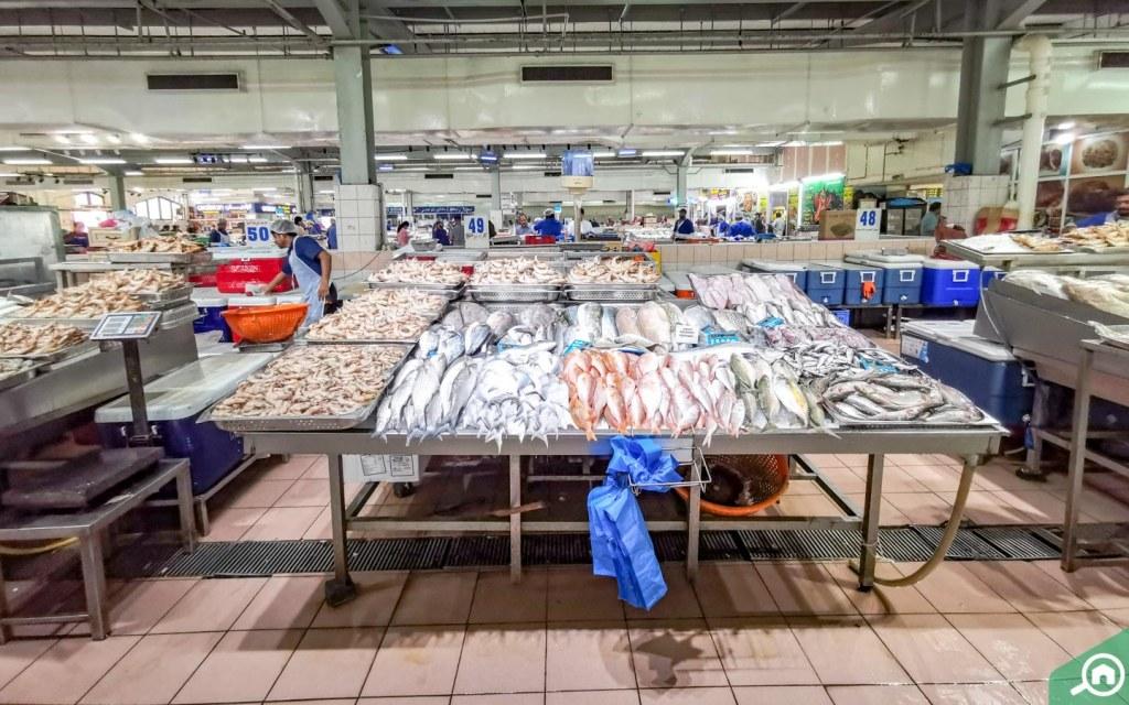 سوق السمك أبوظبي الميناء